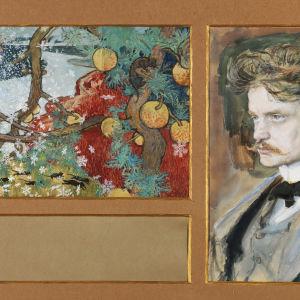 Akseli Gallen-Kallela: En saga (1894). Ainolastiftelsen. (målningen något beskuren)