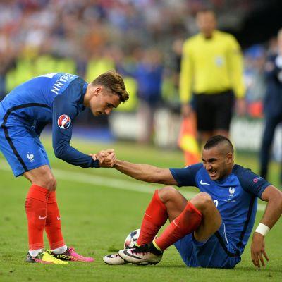 Antoine Griezmann och Dimitri Payet under fotbolls-EM 2016.