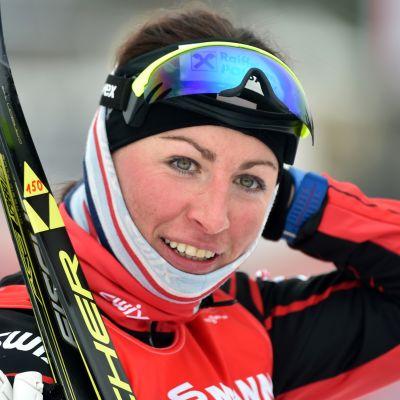 Justyna Kowalczyk var snabbast i damernas sprintkval.