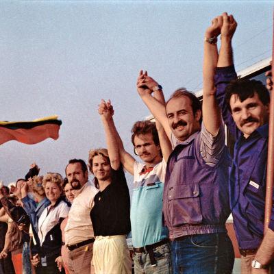 Människokedja i Litauen den 23 augusti 1989.