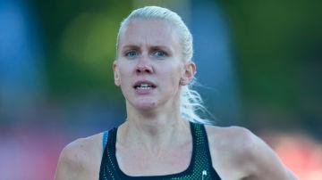 Sandra Eriksson springer i PNG 2018.