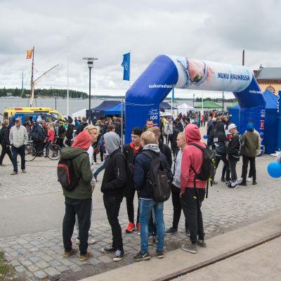 Sov Tryggt-evenemanget i Inre hamnen i Vasa.