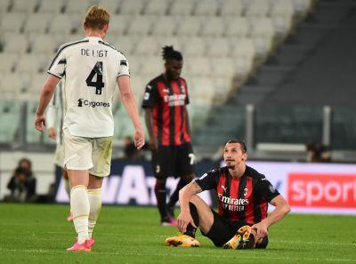 Zlatan Ibrahimovic skadades i matchen mot Juventus.