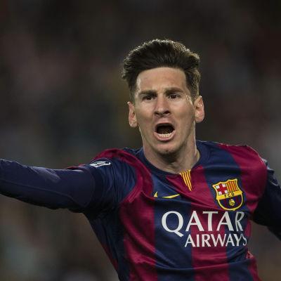 Lionel Messi gjorde två mål mot Bayern i lagens första möte.