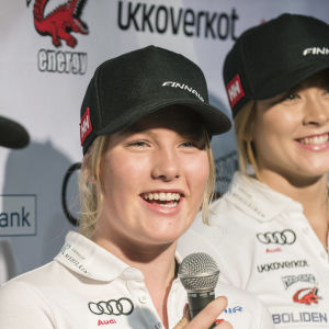 Mathilda Lassenius inför världscupdebuten i slalom i november 2018.