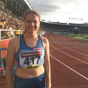 Sofie Lövdahl i Sverigekampen 2019.