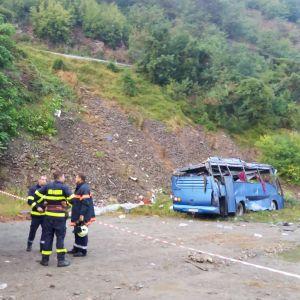 Bussolycka i Svoge i Bulgarien.