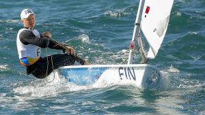 Kaarle Tapper seglar Laser vid OS i Rio de Janeiro 2016.