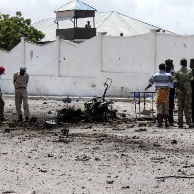 Arkivbild - parlamentet i Mogadishu attackerades den 5 juli 2014.