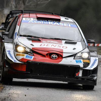 Kalle Rovanperä kör i Monte Carlo.