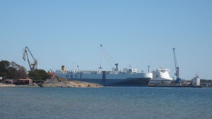 Västra hamnen i Hangö fotograferat på Tulludden