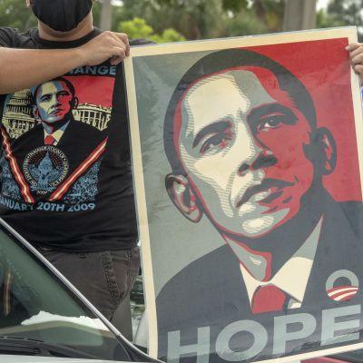 Yhdysvaltain entinen presidentti Barack Obama kampanjoi demokraattien presidenttiehdokkaan Joe Bidenin puolesta Floridassa 24.10.2020.