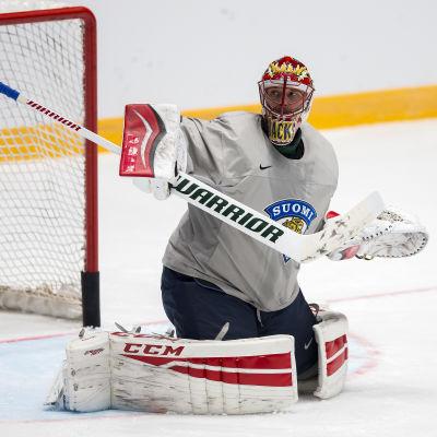Niklas Bäckström tränar i VM i Ryssland