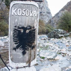 Vid floden Lumbardhi i Pejës i västra Kosovo.