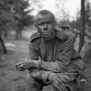 Haavoittunut venäläinen. Vuosalmi 13.7.1944