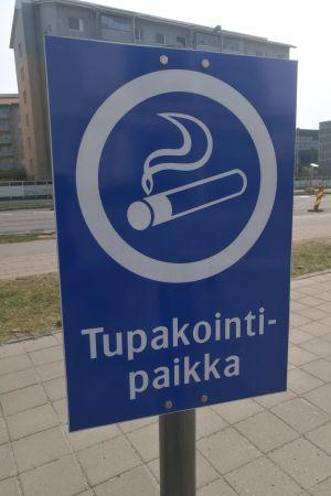 Rökplats vid ÅUCS.