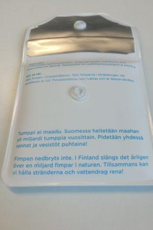 Håll Skärgården Rens fimpbehållare.