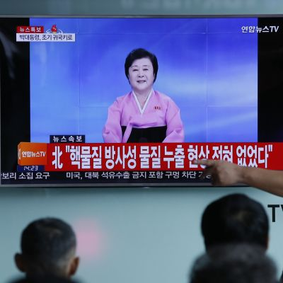 Etelä-Koreassa seurattiin Pohjois-Korean television ilmoitusta ydinkokeesta.