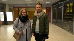 Aura Kiikkala och Aleksi Koivisto.
