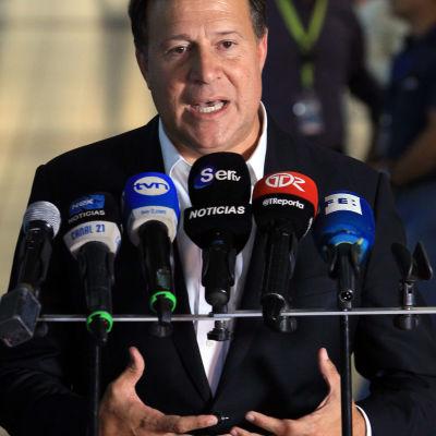 Panamas president Juan Carlos Varela.