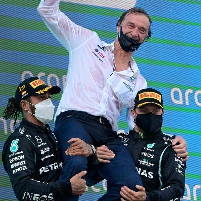 Lewis Hamilton och Valtteri Bottas.