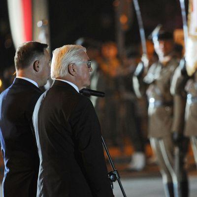 Polens president Andrzej Duda och hans tyske kollega Frank-Walter Steinmeier deltog i en minnesceremoni i Wielun i Polen tidigt på morgonen den 1 september.