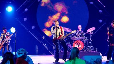 Bandet Lynx uppträder på MGP.