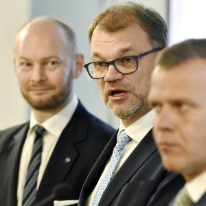 Sampo Terho, Juha Sipilä och Petteri Orpo