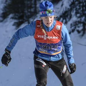 Anita Korva i Salpausselkäspelen år 2018.