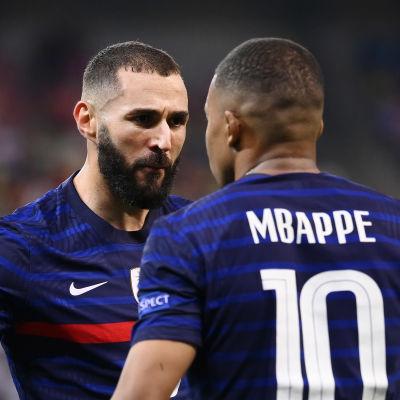 Karim Benzema ja Kylian Mbappe