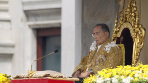 Thailands kung Bhumibol Adulyadej.