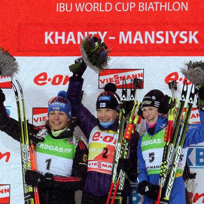 Kaisa Mäkäräinens enda VM-guld kom i jaktstarten 2011.