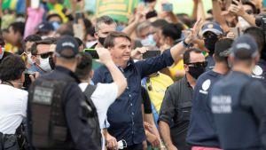 """""""Tropikens Trump, president Jair Bolsonaro har förringat epidemins allvar och kallat COVID-19 för en """"vanlig flunsa."""""""