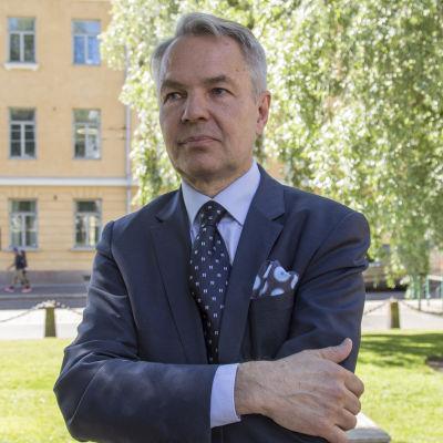 Pekka Haavisto / Ulkoministeri / Ritaripuisto Helsinki 24.06.2019