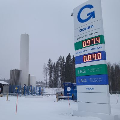 Gasumin kaasuntankkausasema Kuopion Kylmämäessä
