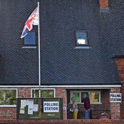 Vallokal i Storbritannien, EU-valet 2019.