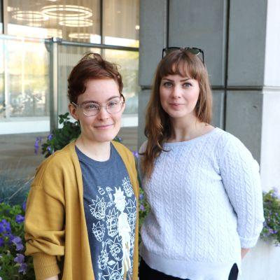 Aino Jauhiainen och Fanny Hatunpää.