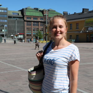 Christa Porander på Narinken i Helsingfors