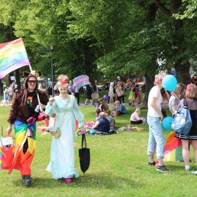 Pridetåget 2018 i Helsingfors.