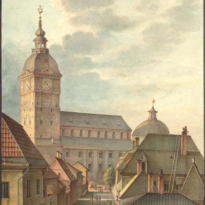 Åbo 1814, akvarell av C.L. Engel
