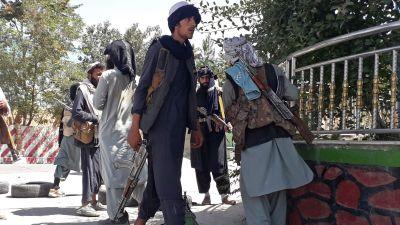 Talibanen, person med gevär.