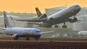 Flygtrafik i Berlin.