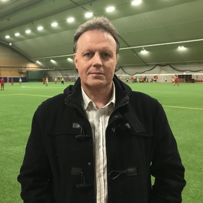 Jaros vd Fredrik Haga i Tellushallen i Jakobstad.