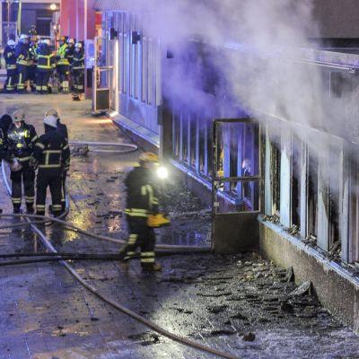 På juldagen brann det i en moské i Eskilstuna.