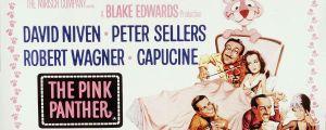 Filmplansch för filmen The Pink Panther 1963.