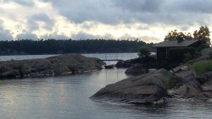 Utsikt från Osnäs färjfäste 2015