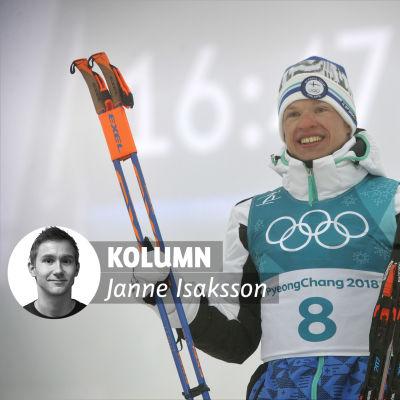 Iivo Niskanen efter OS-guldet 2018.