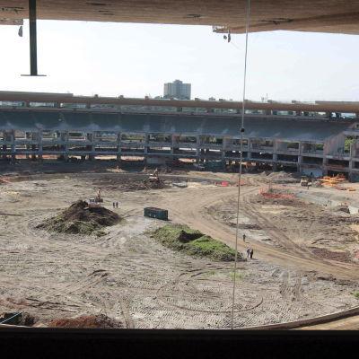Maracana stadium byggs i Rio de Janeiro, ett av arenorna där sommar-OS 2016 ordnas.
