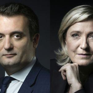 Florian Philippot och Marine Le Pen