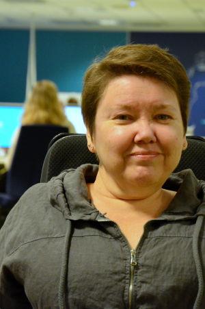 Carola Lithén i Yle Österbottens nyhetslandskap.